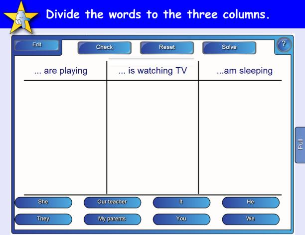 Teaching object 20 Activity in use Through this activity pupils practised the grammar structure.