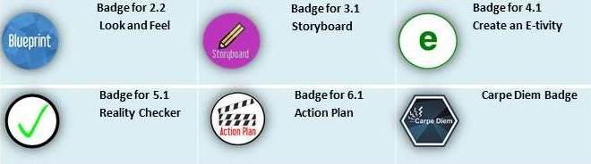 There was no badge allocated for the CD MOOC Week 1 as the activities in that week were introductory tasks not specifically related to the Carpe Diem process.