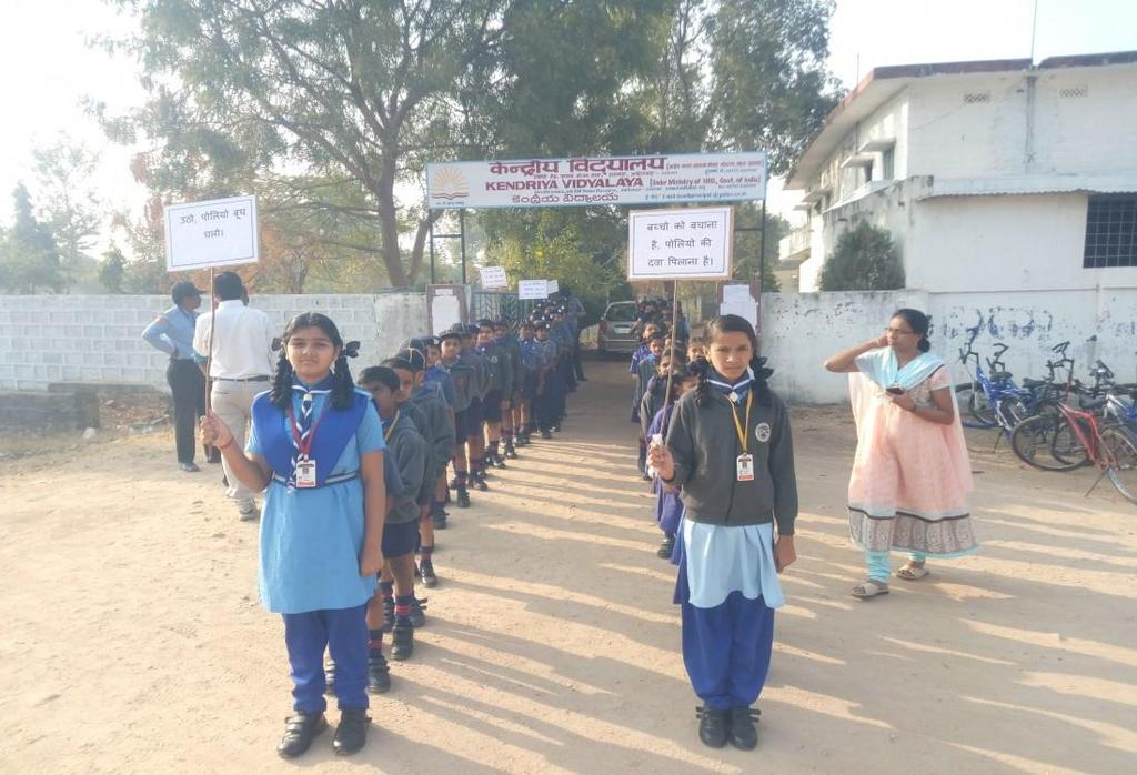 Students took part in pulse polio