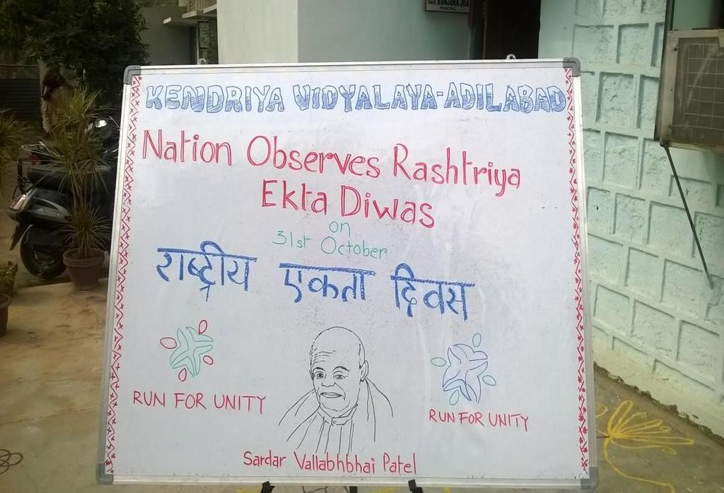 National Unity day conducted in Vidyalaya on