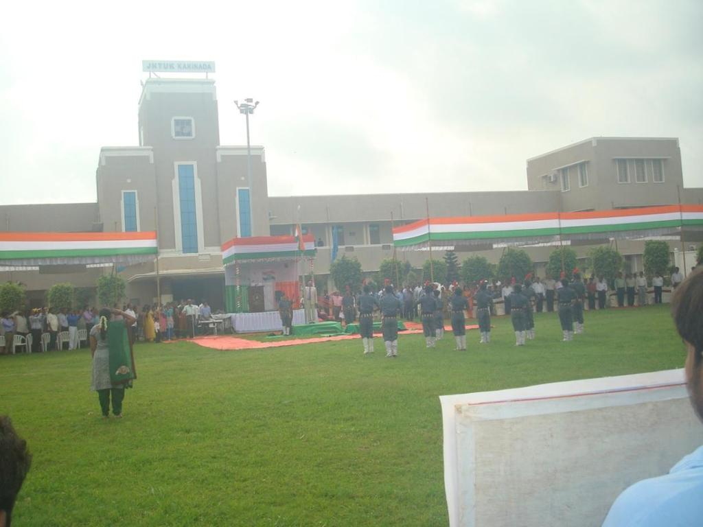 NCC Cadets saluting the National flag
