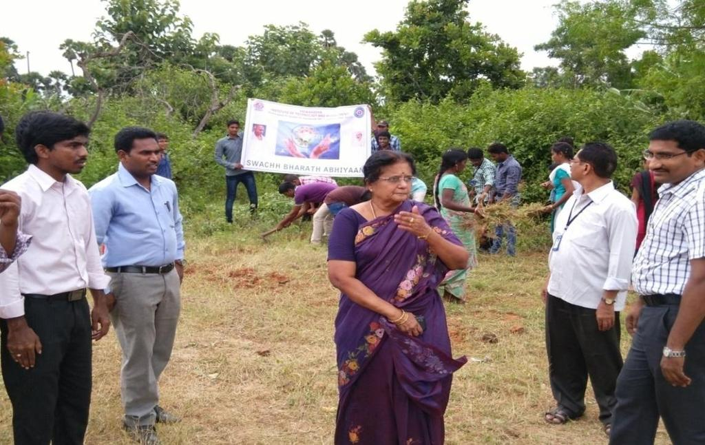 SWACHH COLLEGE PROGRAMME 19-09-2015 SWACHH COLLEGE PROGRAMME was conducted in our college on 19-09-2015 as a part of Swachch Bharat Abhiyan. Prof. K.