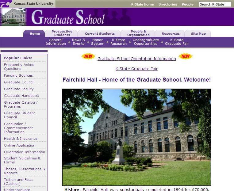 20 KSU s Graduate Handbook, plus forms, regulations, and deadlines may be accessed online.