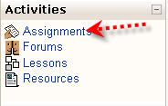 Submitting Assignments Click here to view a video on submitting assignments in Moodle. This icon represents an assignment to be turned in.