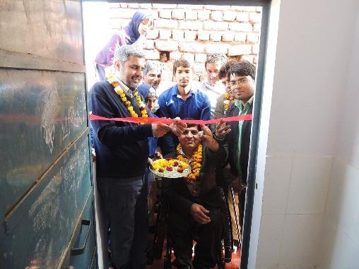 inaugurated a toilet for differently abled children, contributed INR 2000 to the school headmaster