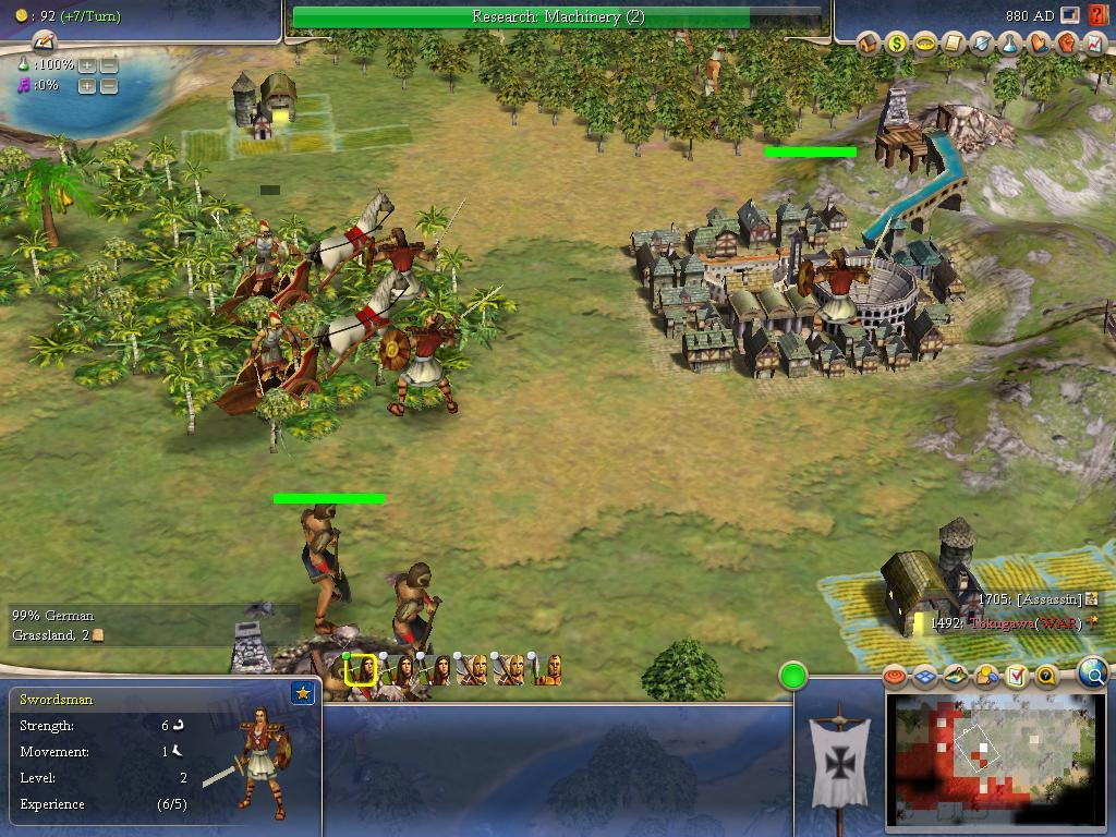 Figure 1: Screenshot of troops and cities in Civilization IV Figure 2: Screenshot of a negotiation in Civilization IV best to use which personality.