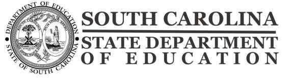 South Carolina Public Charter School Application Guide (for schools planning to open fall 2013) Deadline for Receipt of Applications: 12:00 p.m.