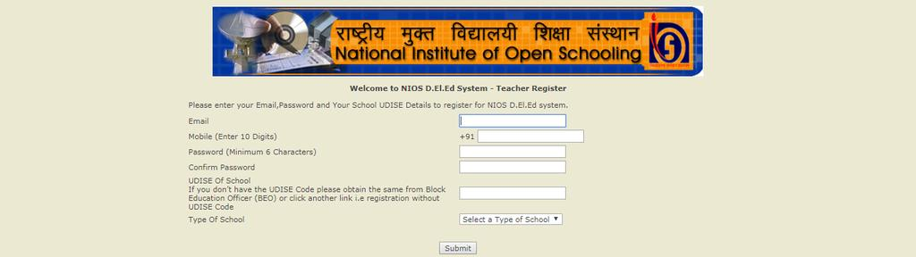 1.1 Registration by the Untrained Teacher having UDISE Code (Unified District Information System for Education (UDISE) code is given to a particular school) The