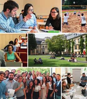98 Law, Business and Economics Bucerius Law School Bucerius Summer Programme The Bucerius Summer Programme enables you to join international groups of advanced law students and young professionals to