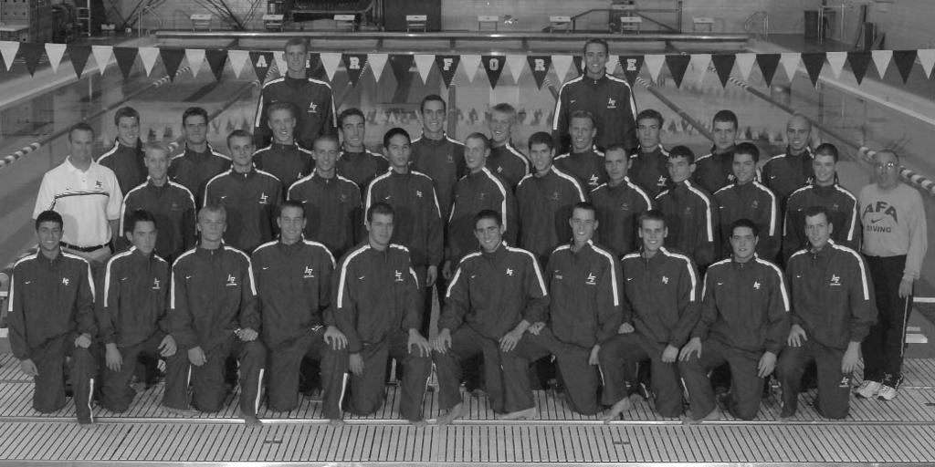 United States Air Force Academy Men s Swimming and Diving 2006-07 Roster Name Events Height Class Hometown (High School) David Arlington Diving 5-9 Fr.