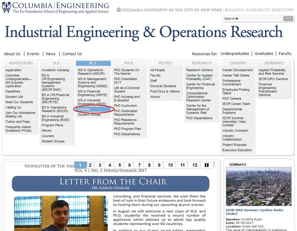 Ms In Industrial Engineering Academic Advising For Fall Pdf
