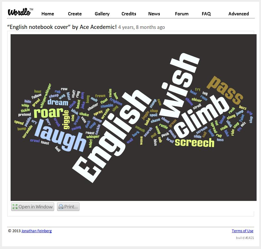 This is no clustering...just word frequencies http://www.wordle.