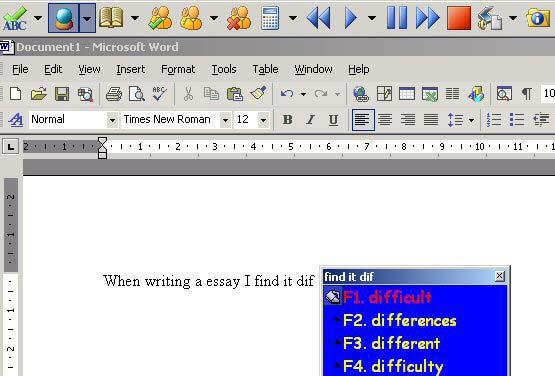 Text to Speech Read&Write has a toolbar that floats on top of any open Windows application.