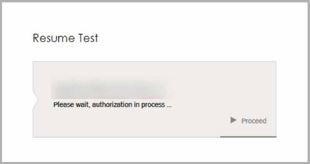 The test taker screen will be automatically updated.