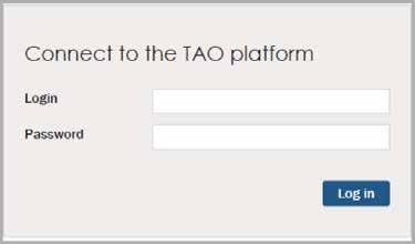 Log in to a Test Center To log in as a proctor for a test center, complete the following steps. 1. To access the TAO platform, type the following URL into your web browser: https://act-prod.taocloud.