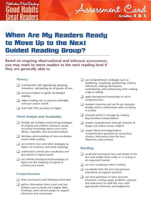 Reading Assessment Tools Assessment Handbooks Reading assessment tools include the following components: Assessment Handbook Assessment Cards The Assessment Handbook
