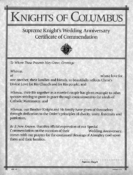 Supreme council certificates pdf knights of columbus certificates are a unique way to honor the outstanding accomplishments of deserving members yadclub Choice Image
