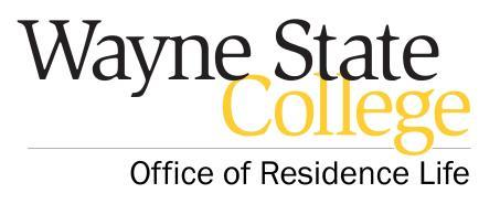 WAYNE STATE COLLEGE RESIDENCE HALL TERMS AND CONDITIONS Room rates and regulations are subject to change by action of the Board of Trustees of the Nebraska State Colleges and the administration of