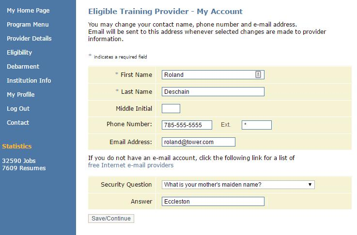 ProviderLink Self-Service Manage My Account You can also edit your account information by clicking My Profile in the navigation menu.