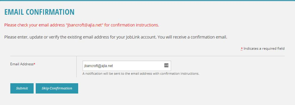 ProviderLink Self-Service Manage My Account Email Confirmation An email address confirmation displays to all users in all states upon first login after the 15.0 release (August 2017).