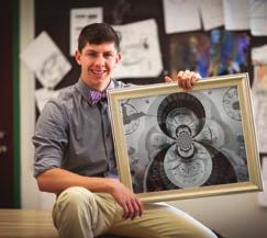 > 2012 graduate Samuel Sedory was recognized at Carnegie Hall in New York City for earning a National Gold Key Award for his Photograph Infinity. He was one of only 350 National Gold Keys selected.