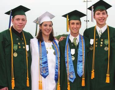 Below: The Class of 2011 had two salutatorians. Graduate Michael Matty was named valedictorian, Zachary Dionise and Daniel Nigh both were named salutatorians and Elizabeth Tomczak was named tertiary.