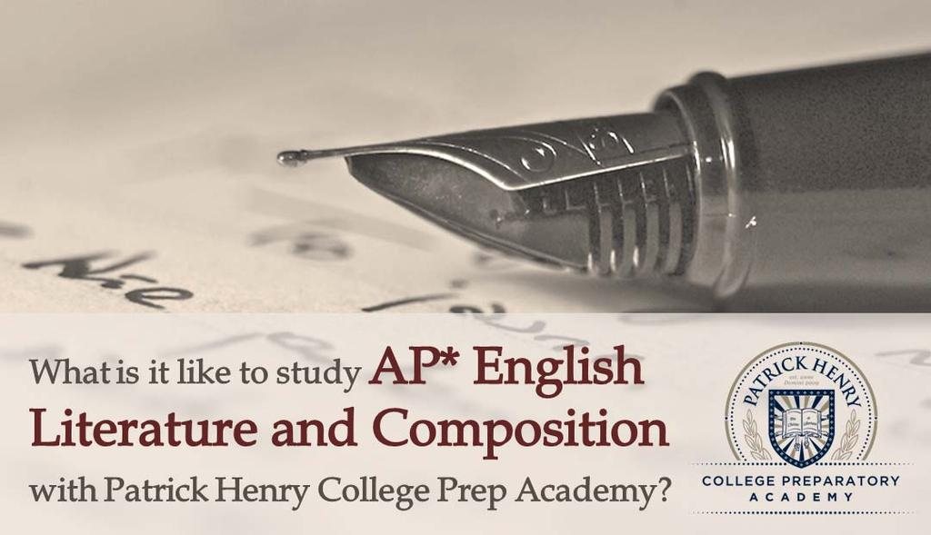 What is the purpose of this course? AP English Literature and Composition introduces students to the essentials of literary study and literary analysis writing.