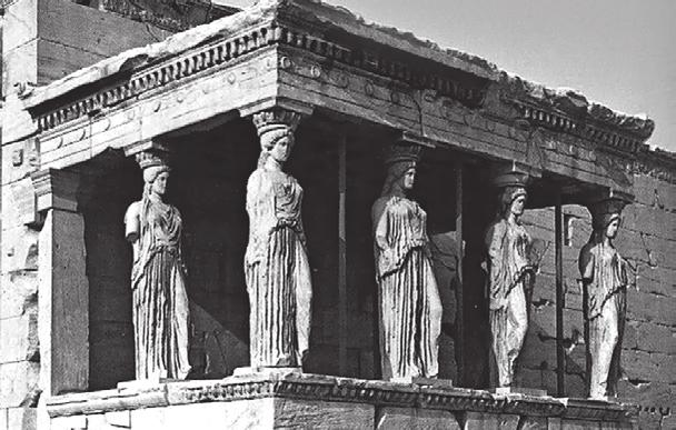 Using scientific evidence An easier question ACID RAIN Below is a photo of statues called Caryatids that were built on the Acropolis in Athens more than 2500 years ago.