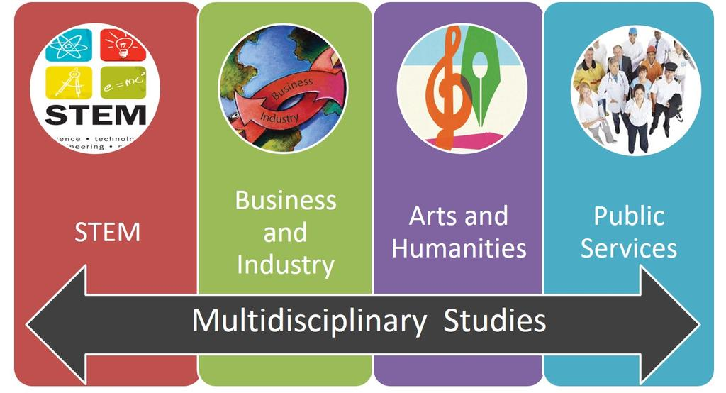 Multidisciplinary Elective Course Choices Allows a student to select courses from each Endorsement area and