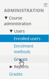 Click on [Enrol users]. Click [Enrol] by the student s name. Select a role of Student. Click [Finish enrolling users].