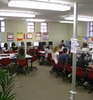 All of the computers have software for guided study as well as free, high speed internet access and also wireless capability so students can use their own computers anywhere in the building.