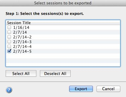 TIP: You may re-export grades for the same session(s) into your LMS gradebook with little risk.
