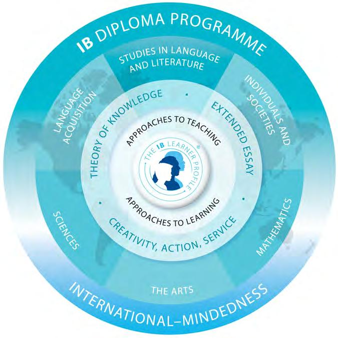 Structure of the IB Diploma Program for Grades 11 and 12 Source: www.ibo.org The hexagon diagram above best represents the wholeness of the IB Diploma Program.