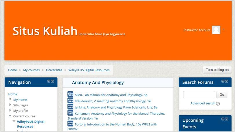 "Access to FULL WileyPLUS Digital Resources Click on ""My Courses > WileyPLUS"