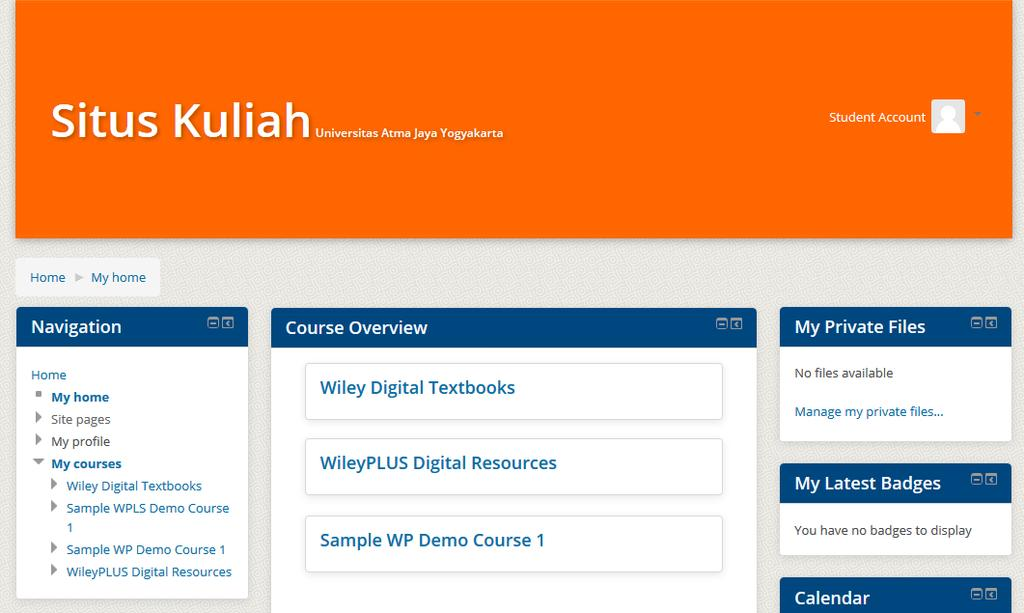 Learning Management System using your credentials http://kuliah.uajy.ac.