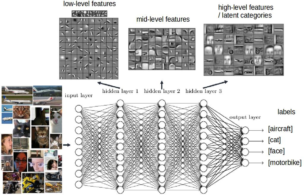 Deep Learning Main Advantage: Feature learning Models learn to capture most essential properties of data (according to some performance measure) as