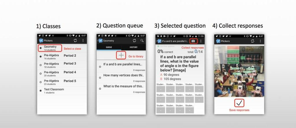 6. Click on a course tile to view Plickers card numbers that have been assigned to students.