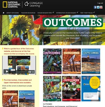 Outcomes Resource site for teachers and students. For more infromation see page 15 * Access code for extra online activities on myelt.heinle.