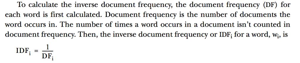 Term Frequency Inverse Document Frequency (TF-IDF) The value of word is