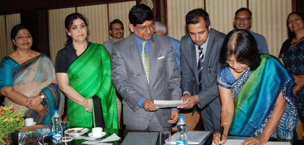 Signing of MoU with ASCI, Hyderabad Dr. Arun Kumar,IAS VC &DG J&K IMPARD, Dr.