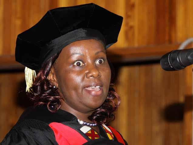 Prof. Patricia Kameri-Mbote presented her inaugural lecture on Multitiple Exclusions of Law and Legal Discourses.