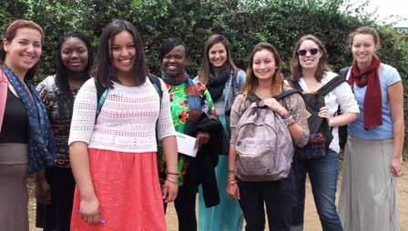 Exchange students from the US with colleagues at the College of Health Sciences.