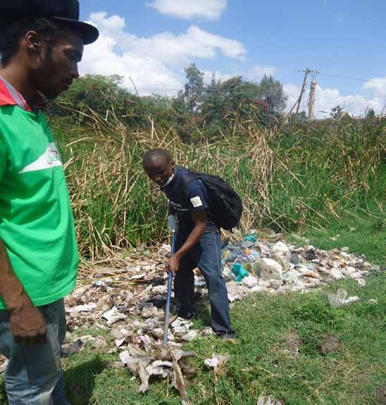 Students in a clean-up excercise