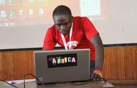 One of the Google Club members