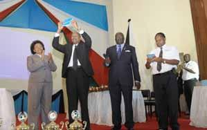 Staff and Students march to the closing ceremony of the