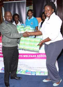 With him is the chairperson, Alumni Association Dr.