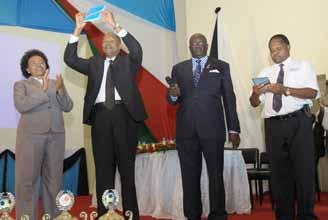Chairperson, Mickey Ochieng as part of their the contribution towards needy