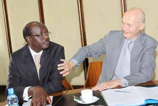 Edith Mwirigi, Secretary General of SONU (second right) with colleagues at the