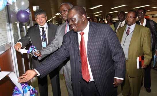 Mr. Mohammed Djelid, UNESCO, Prof. Henry Mutoro, UoN and Protus Onyango of Ministry of Devolution and Planning launch the National Gender Research and Documentation Centre.