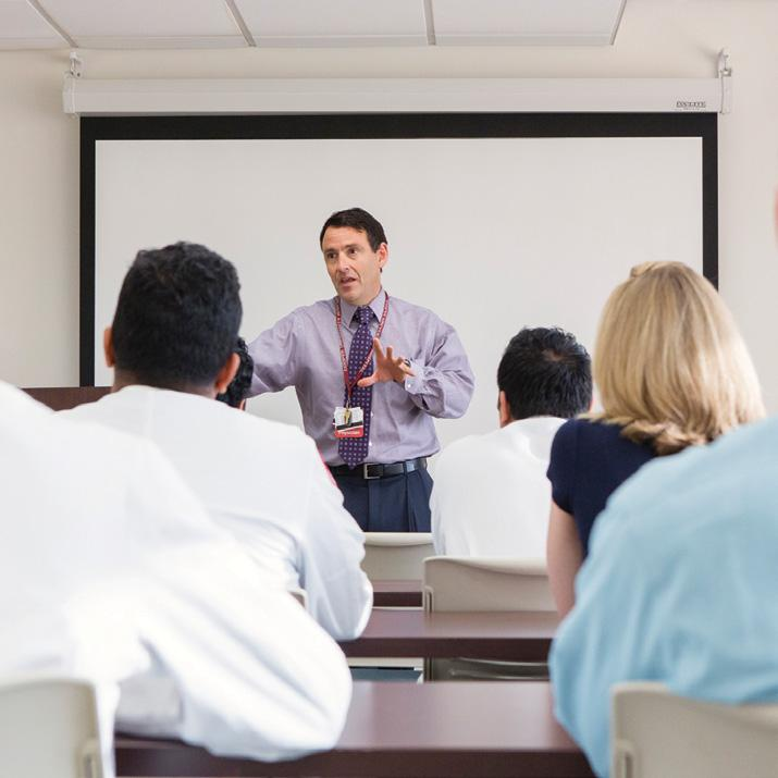 Didactic Conferences Throughout the fellowship, trainees are encouraged to increase their teaching and administrative capabilities, assuming responsibility for various activities such as case